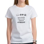 Book Peace Vegetarian Atheist Women's T-Shirt