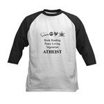 Book Peace Vegetarian Atheist Kids Baseball Jersey