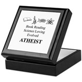 Book Science Evolved Atheist Keepsake Box