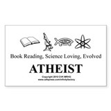 Book Science Evolved Atheist Decal
