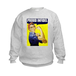 """Rosie """"Proud Infidel"""" Kids Sweatshirt"""
