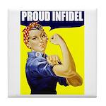 "Rosie ""Proud Infidel"" Tile Coaster"