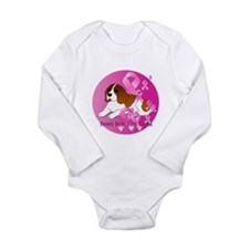 Beagle Long Sleeve Infant Bodysuit