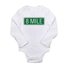 8 Mile Road Long Sleeve Infant Bodysuit