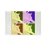 Snowboarding Pop Art Rectangle Magnet (100 pack)