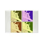 Snowboarding Pop Art Rectangle Magnet (10 pack)