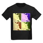 Snowboarding Pop Art Kids Dark T-Shirt
