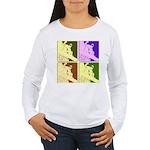 Snowboarding Pop Art Women's Long Sleeve T-Shirt