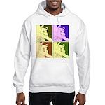 Snowboarding Pop Art Hooded Sweatshirt