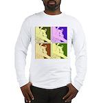 Snowboarding Pop Art Long Sleeve T-Shirt