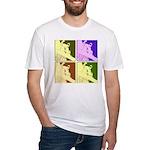 Snowboarding Pop Art Fitted T-Shirt