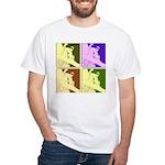Snowboarding Pop Art White T-Shirt