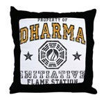 Dharma Flame Station Throw Pillow