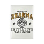 Dharma Flame Station Rectangle Magnet