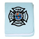 Firefighters Think Green baby blanket