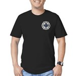 Firefighters Think Green Men's Fitted T-Shirt (dar