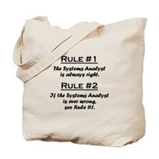 Systems Analyst Tote Bag