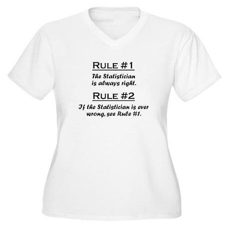 Statistician Women's Plus Size V-Neck T-Shirt