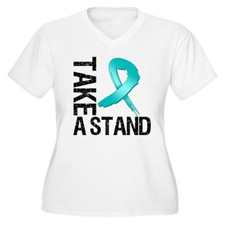 PCOS Take A Stand Women's Plus Size V-Neck T-Shirt