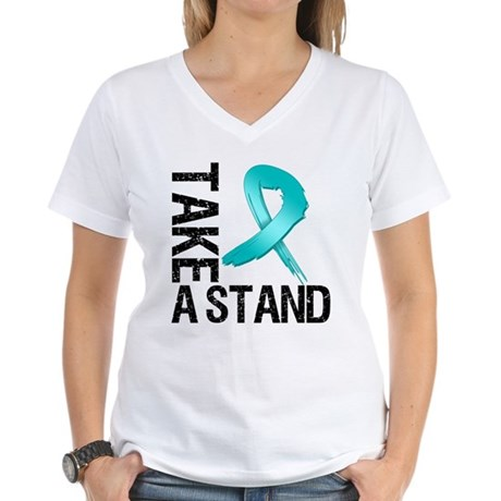 PCOS Take A Stand Women's V-Neck T-Shirt