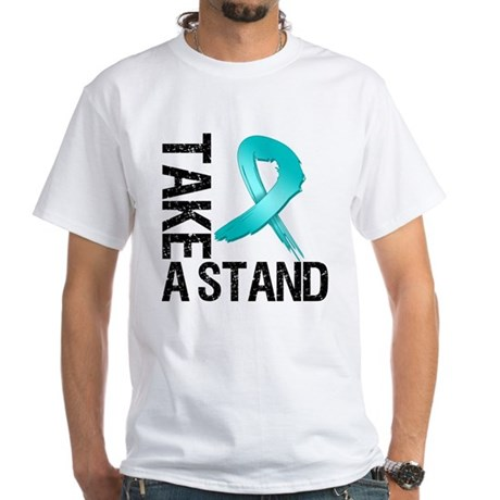 PCOS Take A Stand White T-Shirt