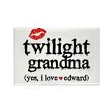 Twilight Grandma Rectangle Magnet