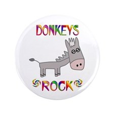 "Donkey 3.5"" Button (100 pack)"