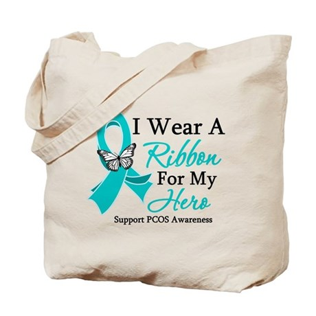 PCOS Ribbon For My Hero Tote Bag