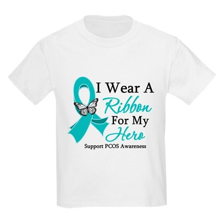 PCOS Ribbon For My Hero Kids Light T-Shirt