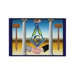 Masonic Brothers Rectangle Magnet