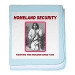 Homeland Security Geronimo baby blanket