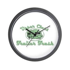 Upper Class Trailer Trash Wall Clock