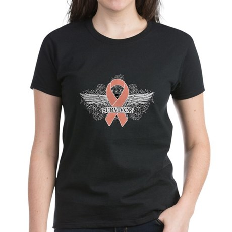 Uterine Cancer Survivor Women's Dark T-Shirt