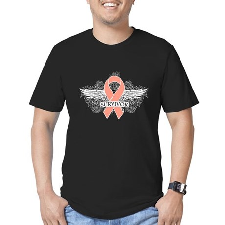 Uterine Cancer Survivor Men's Fitted T-Shirt (dark