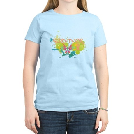 Butterfly Uterine Cancer Women's Light T-Shirt