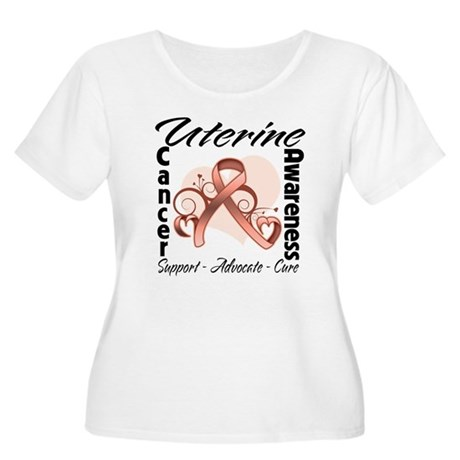 Uterine Cancer Awareness Women's Plus Size Scoop N