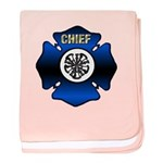 Fire Chief Gold Maltese Cross baby blanket