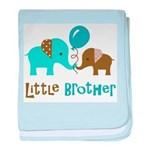 Little Brother - Mod Elephant baby blanket