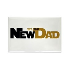 Cool New Dad 2011 Rectangle Magnet (10 pack)