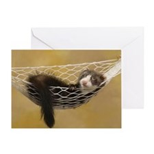 LOUNGING FERRET Greeting Card