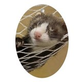 LOUNGING FERRET Ornament (Oval)