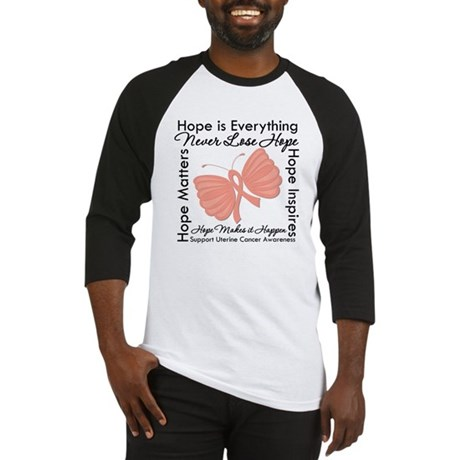 Hope - Uterine Cancer Baseball Jersey