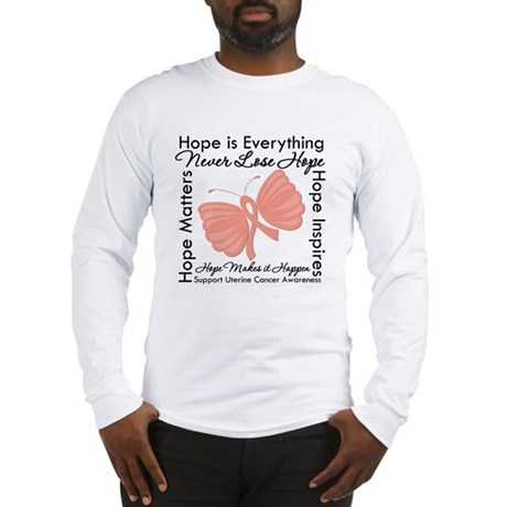 Hope - Uterine Cancer Long Sleeve T-Shirt