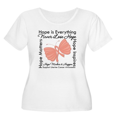 Hope - Uterine Cancer Women's Plus Size Scoop Neck