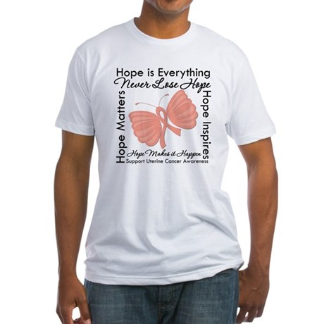 Hope - Uterine Cancer Fitted T-Shirt