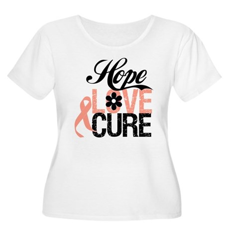 Uterine Cancer HopeLoveCure Women's Plus Size Scoo