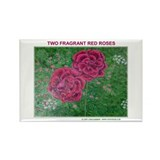 TWO FRAGRANT ROSES Rectangle Magnet (10 pack)