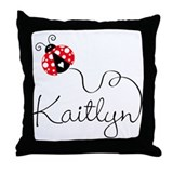 Ladybug Kaitlyn Throw Pillow