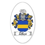 Tellesio Coat of Arms Oval Sticker