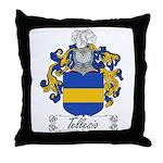 Tellesio Coat of Arms Throw Pillow